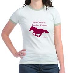 Proud Adopter rose Jr. Ringer T-Shirt