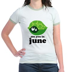 June Baby Due Date Jr. Ringer T-Shirt
