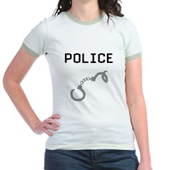 Police Handcuffs Jr. Ringer T-Shirt
