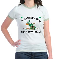 Irish Pub Crawl Team Jr. Ringer T-Shirt