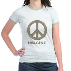 Vintage Imagine Peace Jr. Ringer T-Shirt