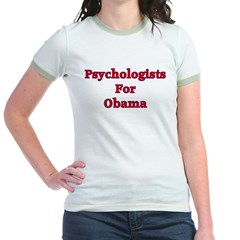 Psychologists For Obama Jr. Ringer T-Shirt