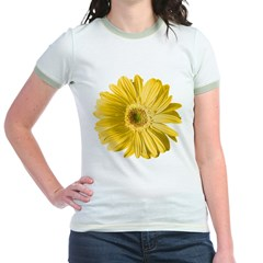 Pop Art Yellow Daisy Jr. Ringer T-Shirt