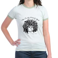 Curly Haired Girl Jr. Ringer T-Shirt