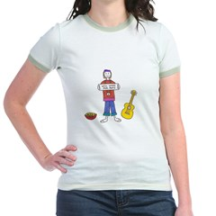 will work for peas- hippy Jr. Ringer T-Shirt