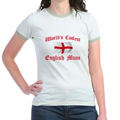 Coolest English Mum Jr. Ringer T-Shirt
