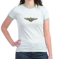 'Naval Aviator Wings' Jr. Ringer T-Shirt