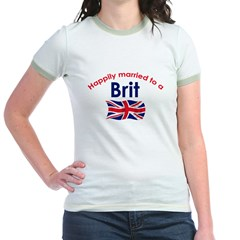 Happily Married Brit 2 Jr. Ringer T-Shirt