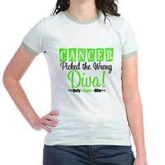 CancerWrongDiva Jr. Ringer T-Shirt