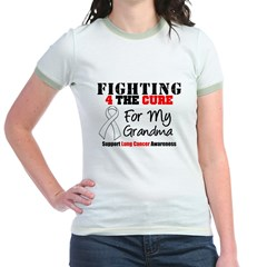 Fighting Lung Cancer Jr. Ringer T-Shirt