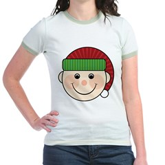 Funny Christmas Elf Maternity Tshirt Jr. Ringer T-Shirt