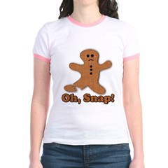 Gingerbread Snap Jr. Ringer T-Shirt