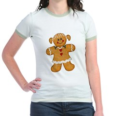 Gingerbread Woman Jr. Ringer T-Shirt
