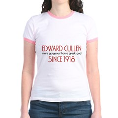 Edward - Greek God Since 1918 Jr. Ringer T-Shirt