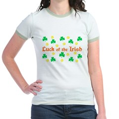 &quot;Luck of the Irish&quot; Jr. Ringer T-Shirt