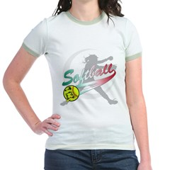 Girls Softball Jr. Ringer T-Shirt