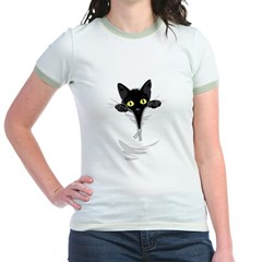 Pocket Kitten Jr. Ringer T-Shirt
