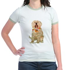 happy wheaten terrier Jr. Ringer T-Shirt
