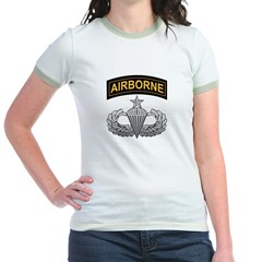 Senior Airborne Wings with Ai Jr. Ringer T-Shirt