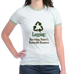 Logging: Renewable Resource Jr. Ringer T-Shirt