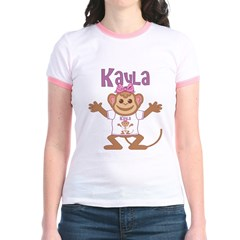 Little Monkey Kayla Jr. Ringer T-Shirt