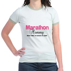 Marathon Mommy Peace Quie Jr. Ringer T-Shirt