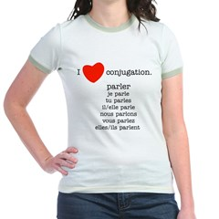 I love conjugation Jr. Ringer T-Shirt