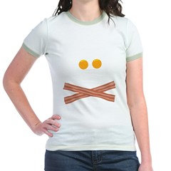 Eggs Bacon Skull Jr. Ringer T-Shirt