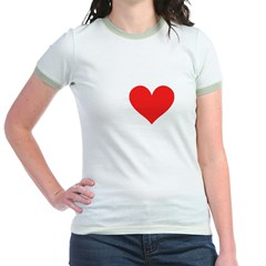 I Heart Volleyball: Jr. Ringer T-Shirt