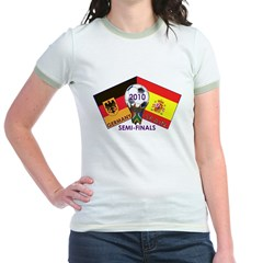 Germany vs. Spain 2010 Soccer Jr. Ringer T-Shirt
