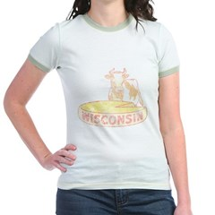 Wisconsin Cow and Cheese Jr. Ringer T-Shirt