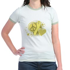 Spina Bifida Peace Love Cure Jr. Ringer T-Shirt
