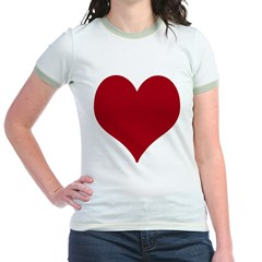 - Heart/Love Design Jr. Ringer T-Shirt