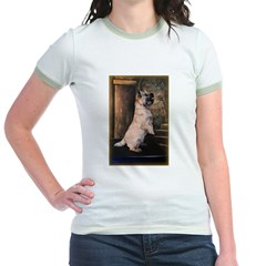 &quot;Sitting Pretty&quot; Cairn Terrier Jr. Ringer T-Shirt