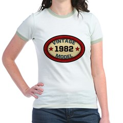 Birthday Vintage Model Year Jr. Ringer T-Shirt