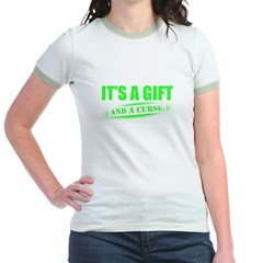 it's a gift and a curse Jr. Ringer T-Shirt