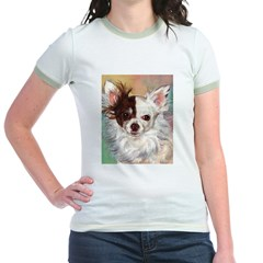 NipperPiesArt.JPG Jr. Ringer T-Shirt