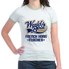 French Horn Teacher Jr. Ringer T-Shirt