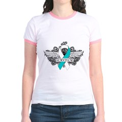 Cervical Cancer Survivor Jr. Ringer T-Shirt