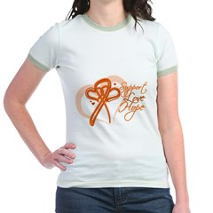 Leukemia Support Hope Jr. Ringer T-Shirt