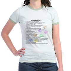 You might be 10x10 pastel pawprints Jr. Ringer T-Shirt