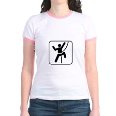 Welcome To Climbing! You Are Jr. Ringer T-Shirt