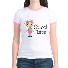 School Nurse Jr. Ringer T-Shirt