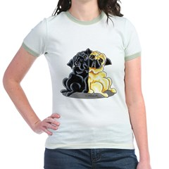 Black Fawn Pug Jr. Ringer T-Shirt