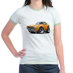 1968-69 AMX Orange Car Jr. Ringer T-Shirt