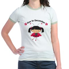 Cute December Pregnancy T-Shirt Jr. Ringer T-Shirt