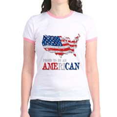 Proud to be an American Jr. Ringer T-Shirt