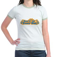 Suns out guns out -- Men Jr. Ringer T-Shirt