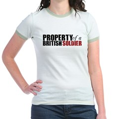 Property of a British Soldier - Jr. Ringer T-Shirt