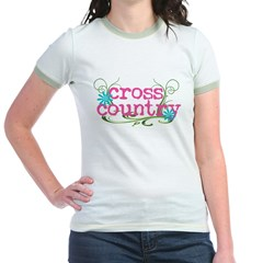 Cross Country Pink Jr. Ringer T-Shirt